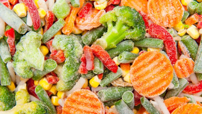 Winter snap frozen vegetables